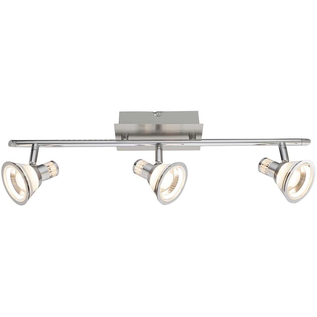 GLOBO LED-spotlight TAKIRO nikkel en acryl 56956-3