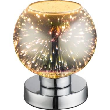 GLOBO Lámpara de mesa de efecto 3D KOBY vidrio cromado 15x18 cm 15845T[1/4]