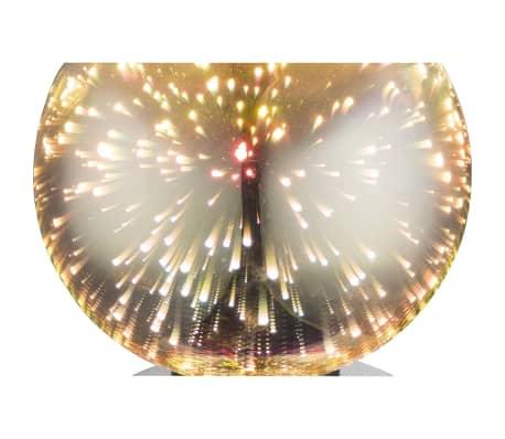 GLOBO Lámpara de mesa de efecto 3D KOBY vidrio cromado 15x18 cm 15845T[2/4]