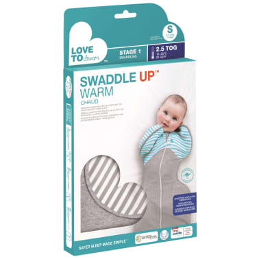 Love to Dream Babydoek Swaddle UP WARM M grijs[5/6]