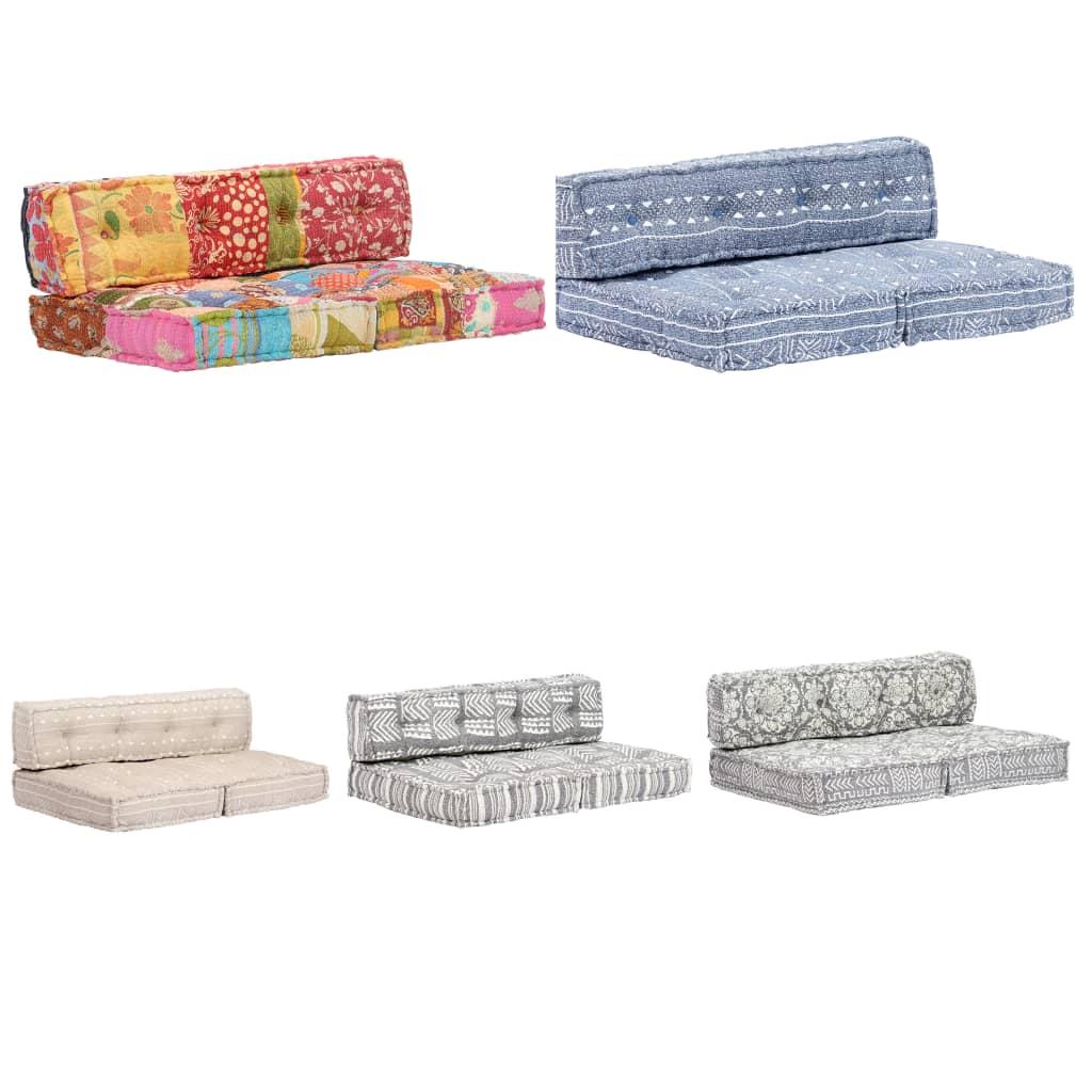 Comment Faire Une Balancelle En Palette détails sur vidaxl coussin de canapé palette tissu patchwork sofa de salon  multicolore