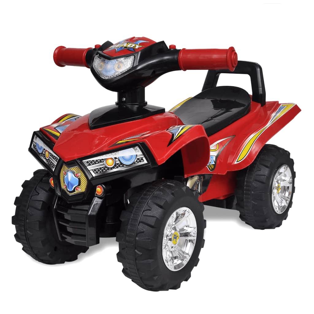vidaXL Gyere Ride-on Quad dudahanggal és fénnyel piros