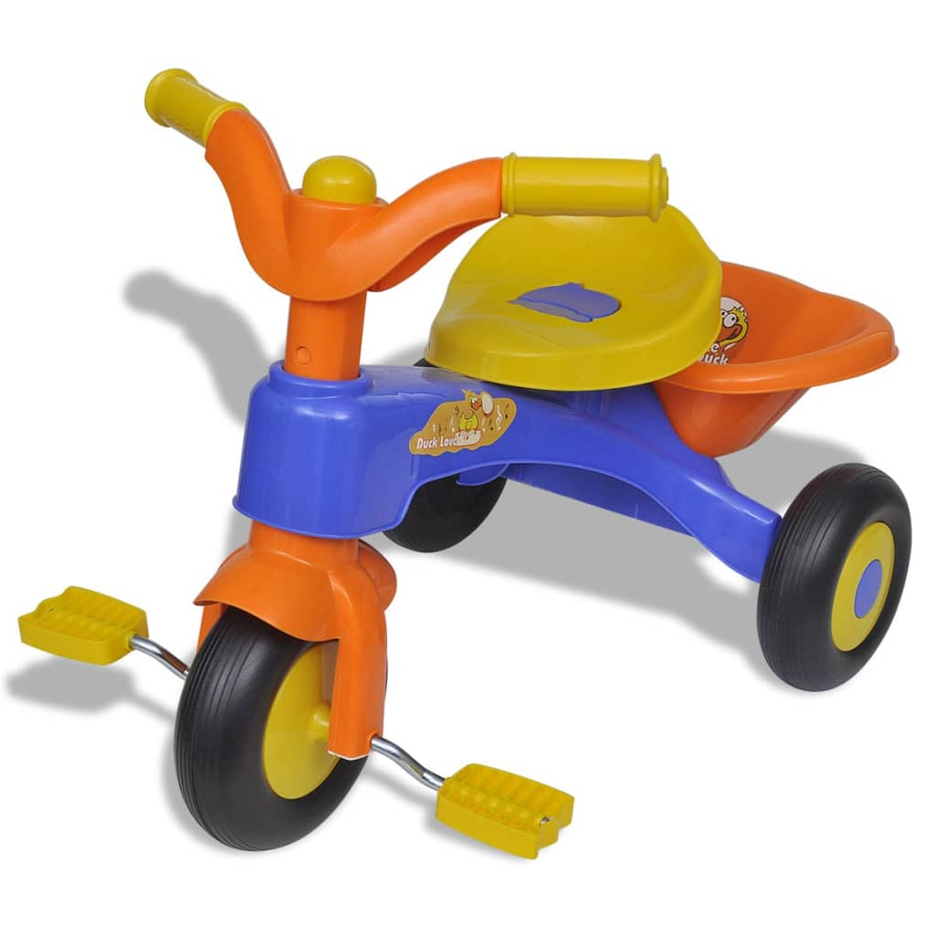 vidaXL Tricycle enfant Smart orange-bleu