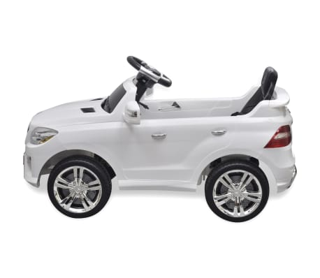 voiture lectrique 6 v avec t l commande mercedes benz ml350 blanche. Black Bedroom Furniture Sets. Home Design Ideas