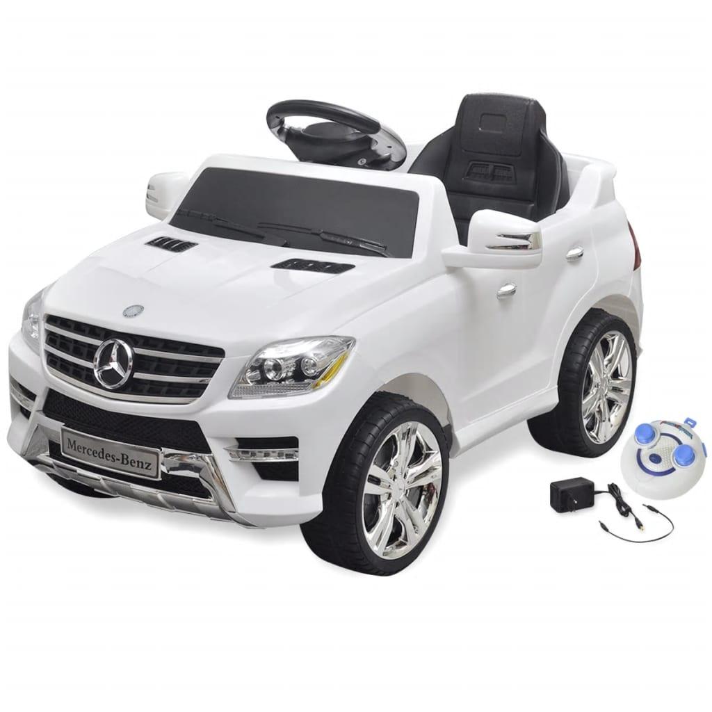 acheter voiture lectrique 6 v avec t l commande mercedes benz ml350 blanche pas cher. Black Bedroom Furniture Sets. Home Design Ideas