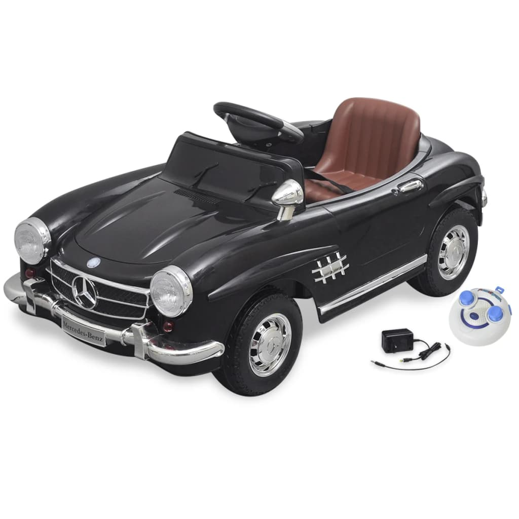 la boutique en ligne voiture lectrique 6 v avec t l commande mercedes benz 300sl noire. Black Bedroom Furniture Sets. Home Design Ideas