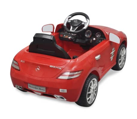 voiture lectrique 6 v avec t l commande mercedes benz sls amg rouge. Black Bedroom Furniture Sets. Home Design Ideas