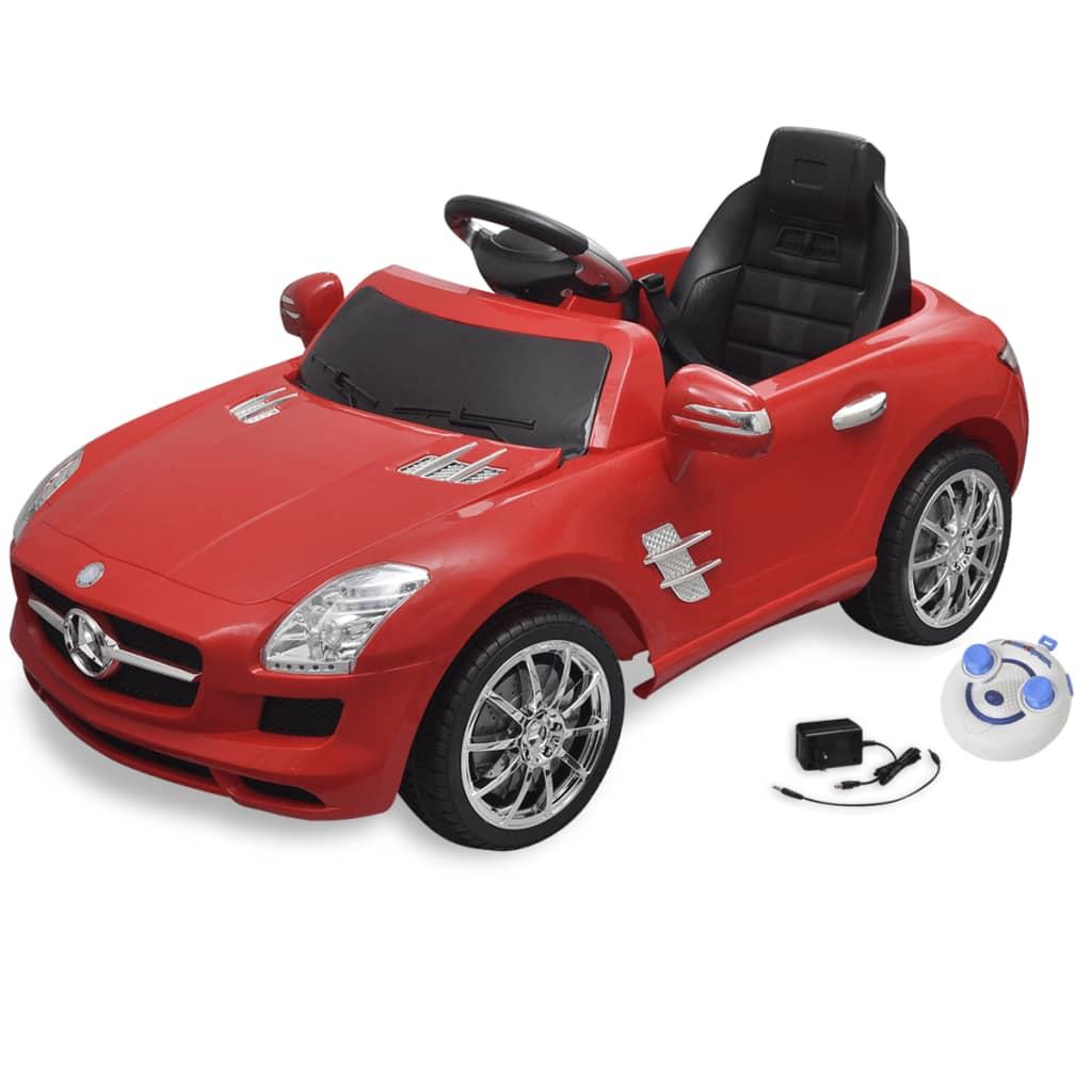 la boutique en ligne voiture lectrique 6 v avec t l commande mercedes benz sls amg rouge. Black Bedroom Furniture Sets. Home Design Ideas