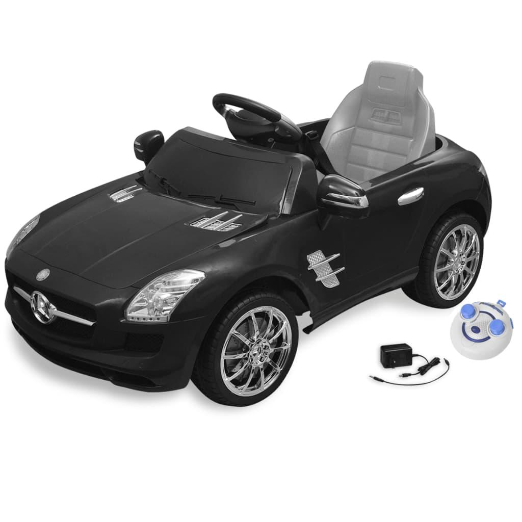 acheter voiture lectrique 6 v avec t l commande mercedes benz sls amg noire pas cher. Black Bedroom Furniture Sets. Home Design Ideas