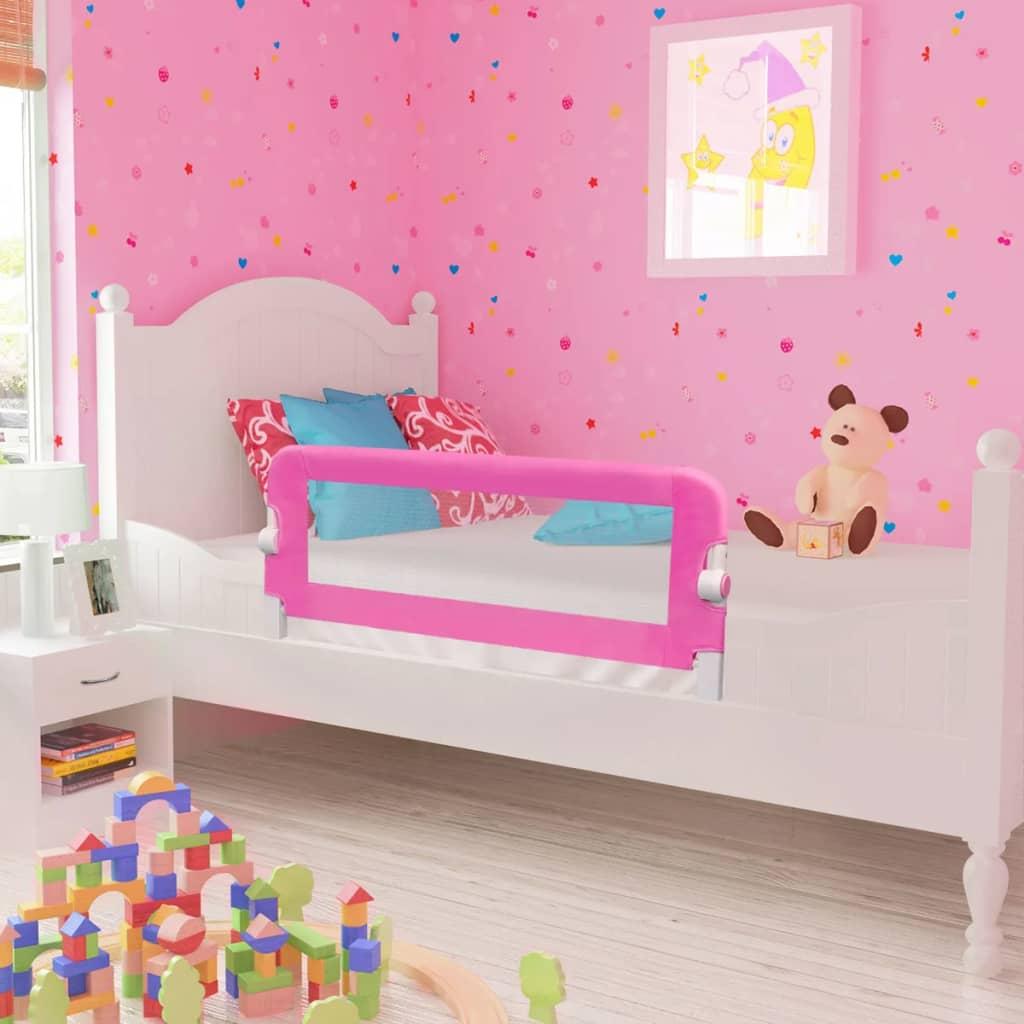 vidaXL Totyogó biztonsági ágykorlág 102 x 42 cm rózsaszín