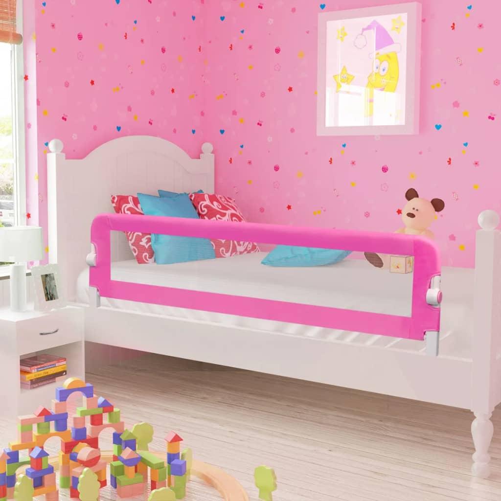 Toddler Safety Bed Rail 150 X 42 Cm Pink Vidaxl Co Uk