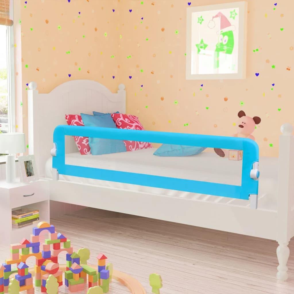 vidaXL Totyogó biztonsági ágykorlát 150 x 42 cm kék