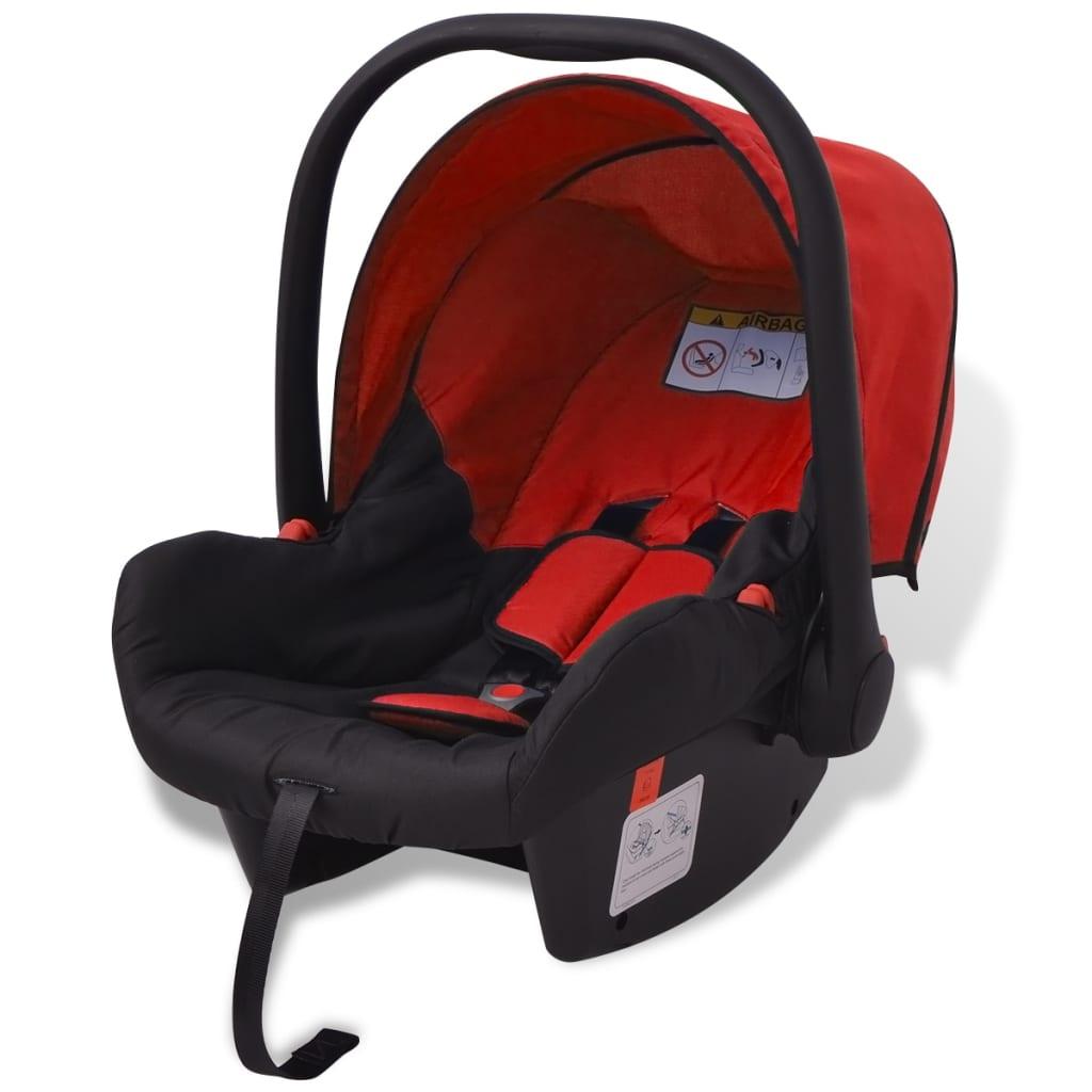 vidaxl 3 in 1 kinderwagen aluminium rot und schwarz g nstig kaufen. Black Bedroom Furniture Sets. Home Design Ideas