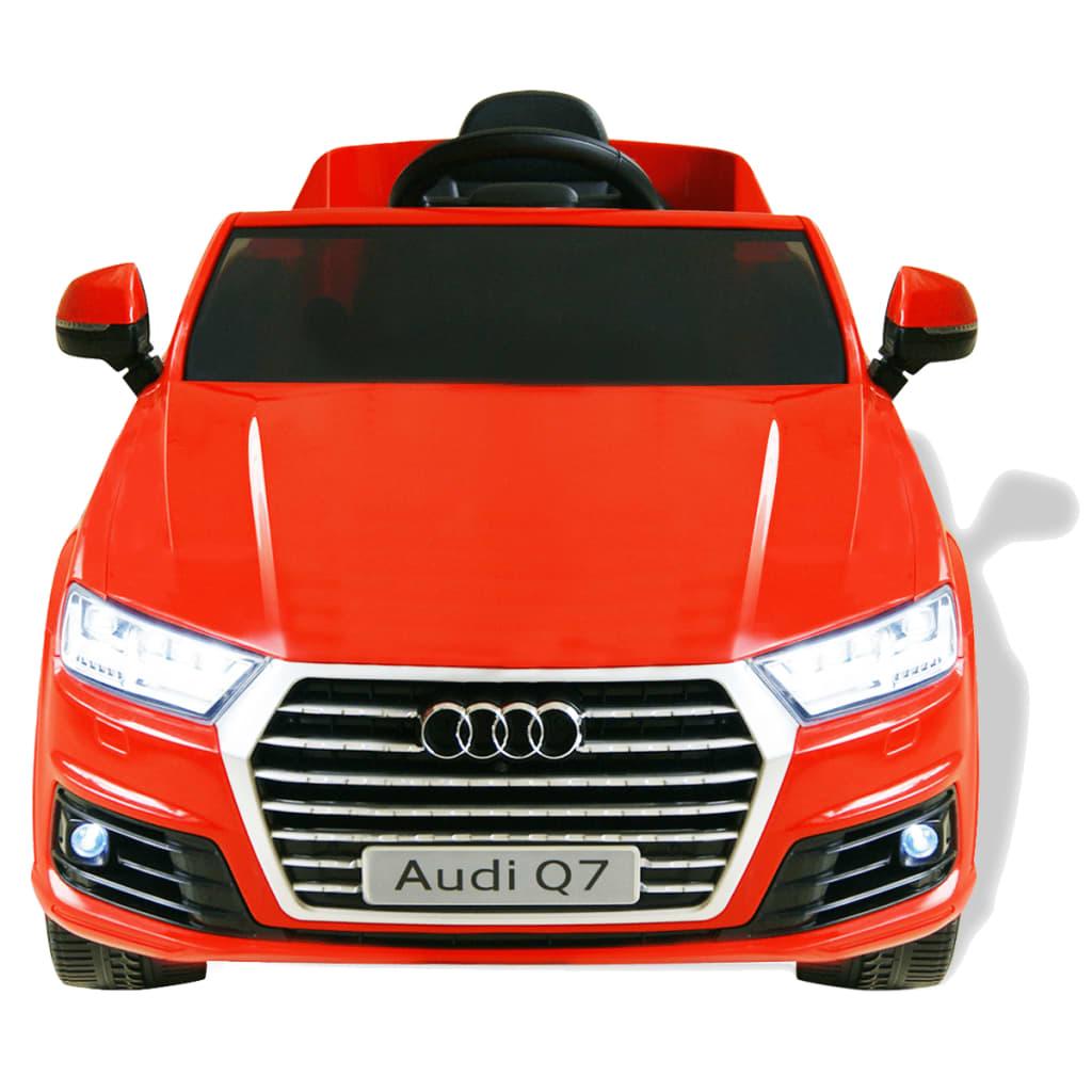 acheter vidaxl voiture lectrique pour enfants audi q7 rouge 6 v pas cher. Black Bedroom Furniture Sets. Home Design Ideas