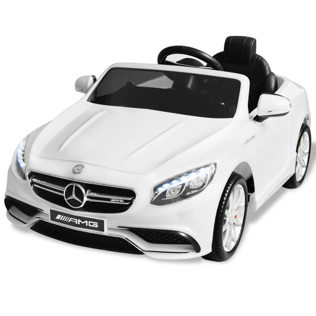 vidaxl voiture lectrique pour enfants mercedes benz amg s63 blanc 6 v. Black Bedroom Furniture Sets. Home Design Ideas