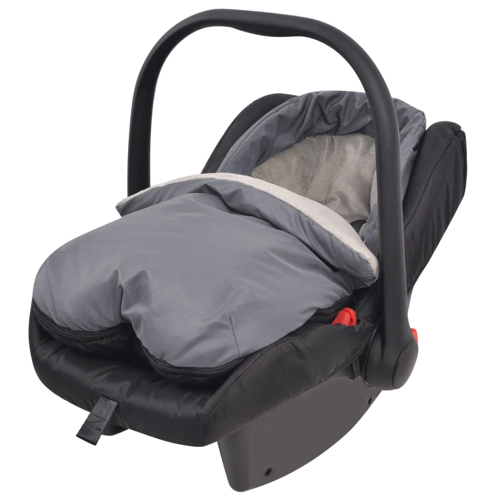 vidaxl footmuff bunting bag for baby carrier car seat 75x40 cm grey. Black Bedroom Furniture Sets. Home Design Ideas