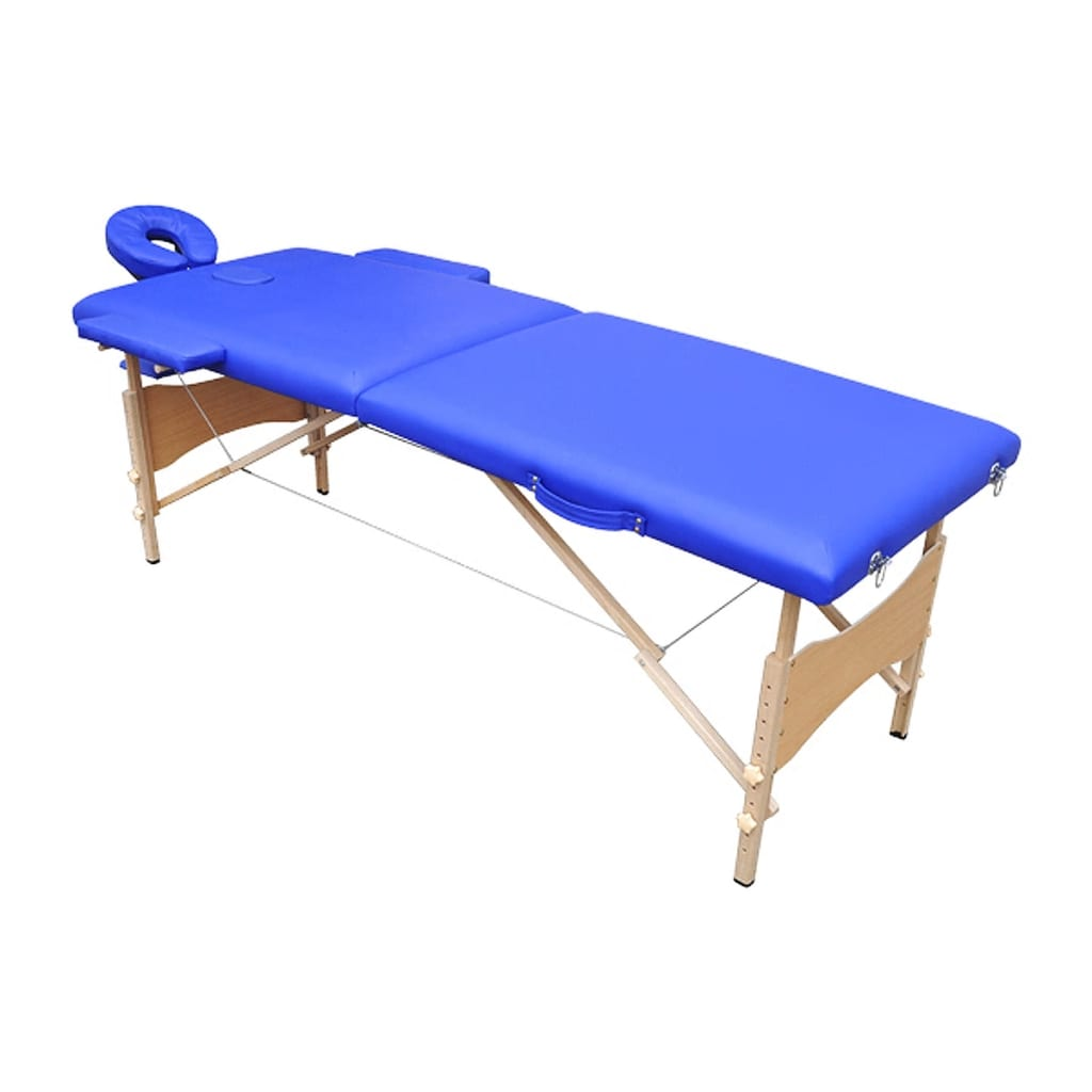 Acheter table de massage pliante bois 2 zones bleue pas - Tables de massage pliante ...