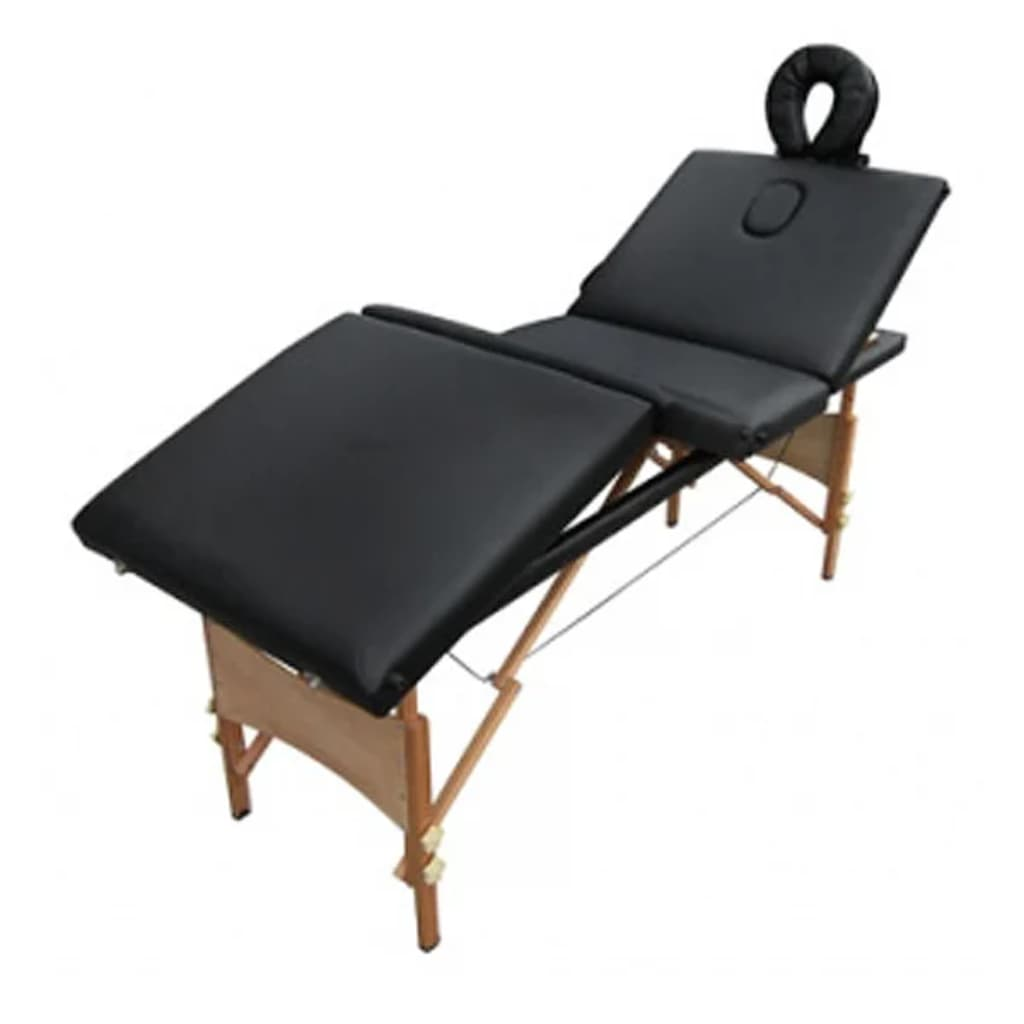 La boutique en ligne table de massage pliante bois 4 zones - Tables de massage pliante ...