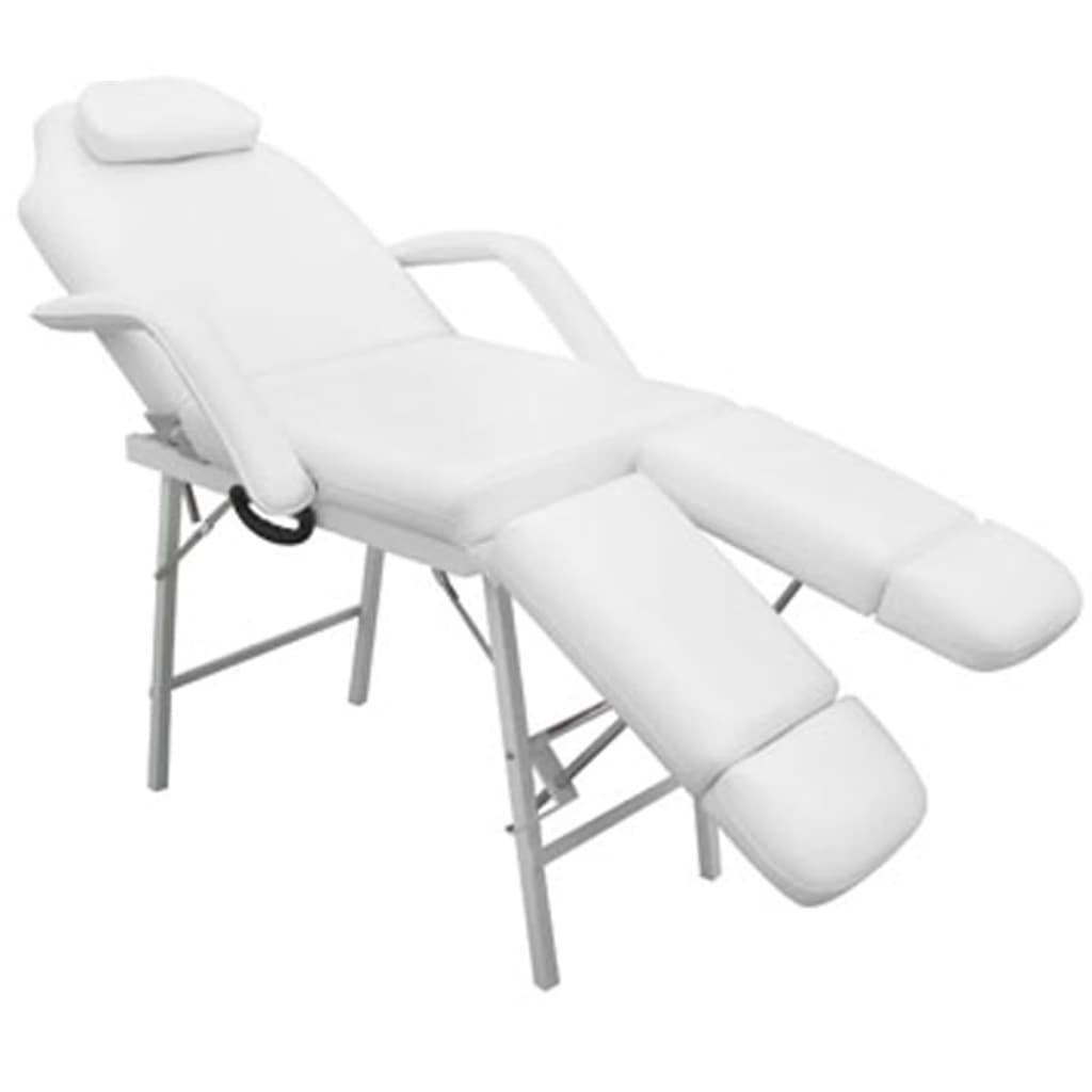 La boutique en ligne fauteuil de podologie blanc cr me inclinable et pliant - Fauteuil massant belgique ...