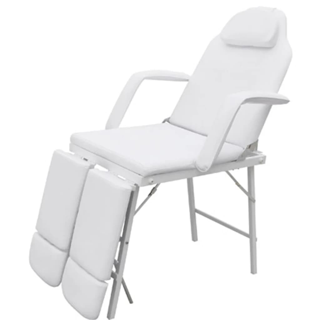 White treatment chair with ajustable legrests – Treatment Chair