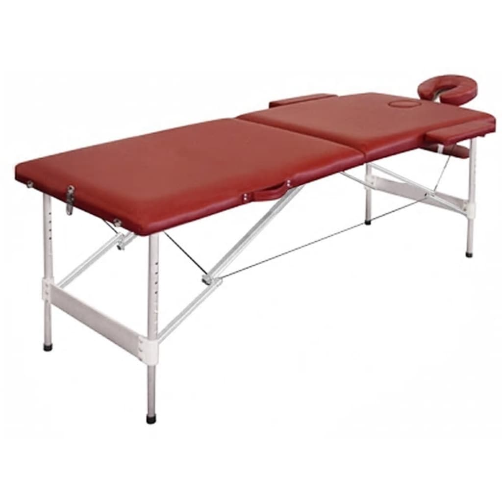 La boutique en ligne table de massage pliante avec 2 zones en alu rouge vid - Table de massage pliante en alu ...