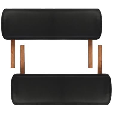 Svart vikbart massagebord med 3 zoner och träram[7/8]