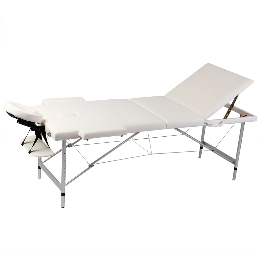 mesa camilla de masaje plegable de 3 cuerpos aluminio