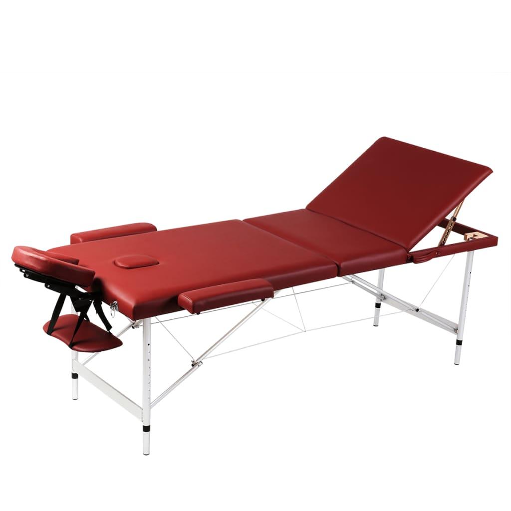 Mesa camilla de masaje de aluminio plegable de tres - Vestir mesa camilla ...
