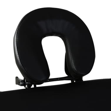Sklopivi masažni stol s aluminijskim okvirom, 3 zone, crni[4/7]