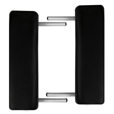Sklopivi masažni stol s aluminijskim okvirom, 3 zone, crni[5/7]