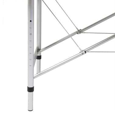 Sklopivi masažni stol s aluminijskim okvirom, 3 zone, crni[2/7]