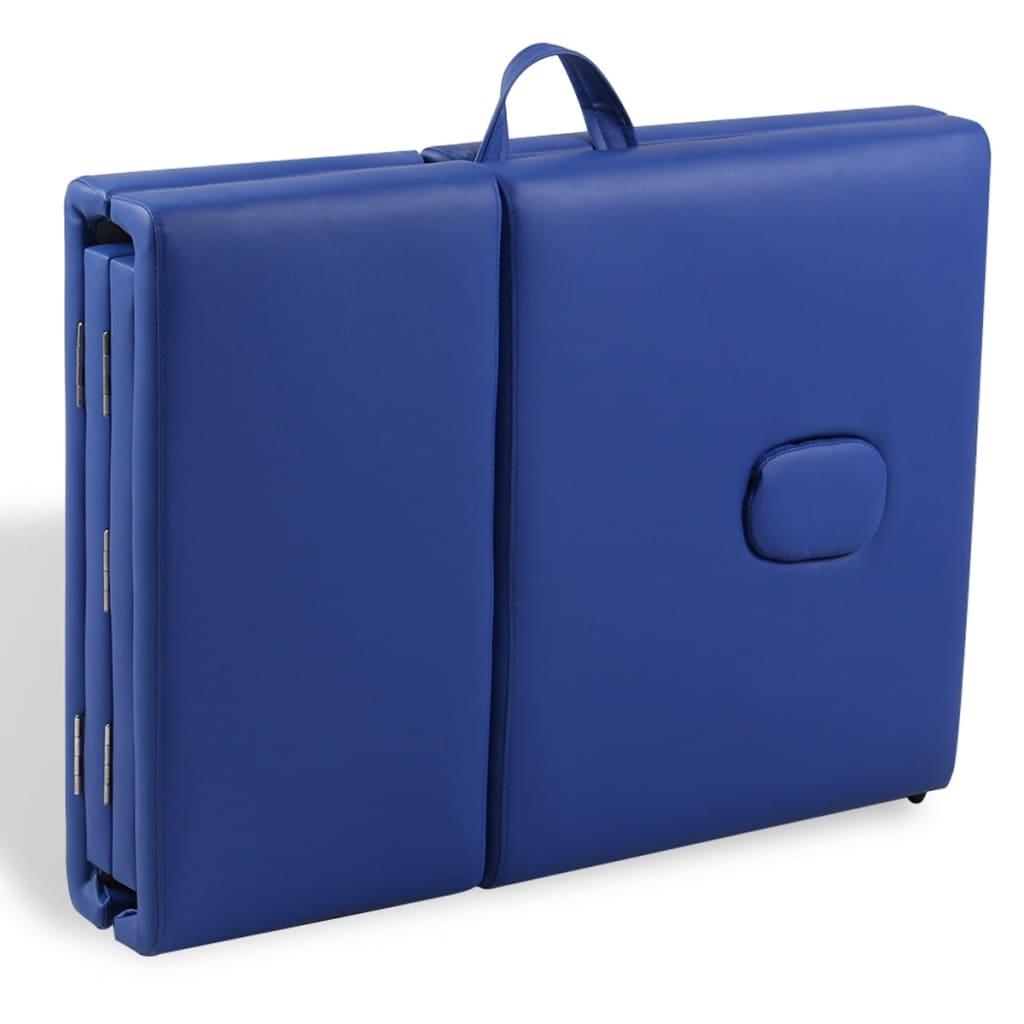 Acheter table de massage pliante 4 zones bleu cadre en - Table esthetique pliante pas cher ...