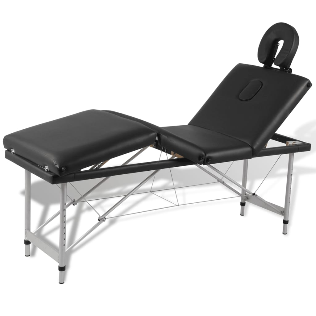 La boutique en ligne table de massage pliante 4 zones noir - Tables de massage pliante ...