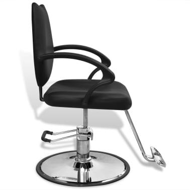 Professzionális műbőr fodrász szék fekete[3/6]
