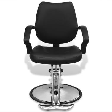 Professzionális műbőr fodrász szék fekete[2/6]