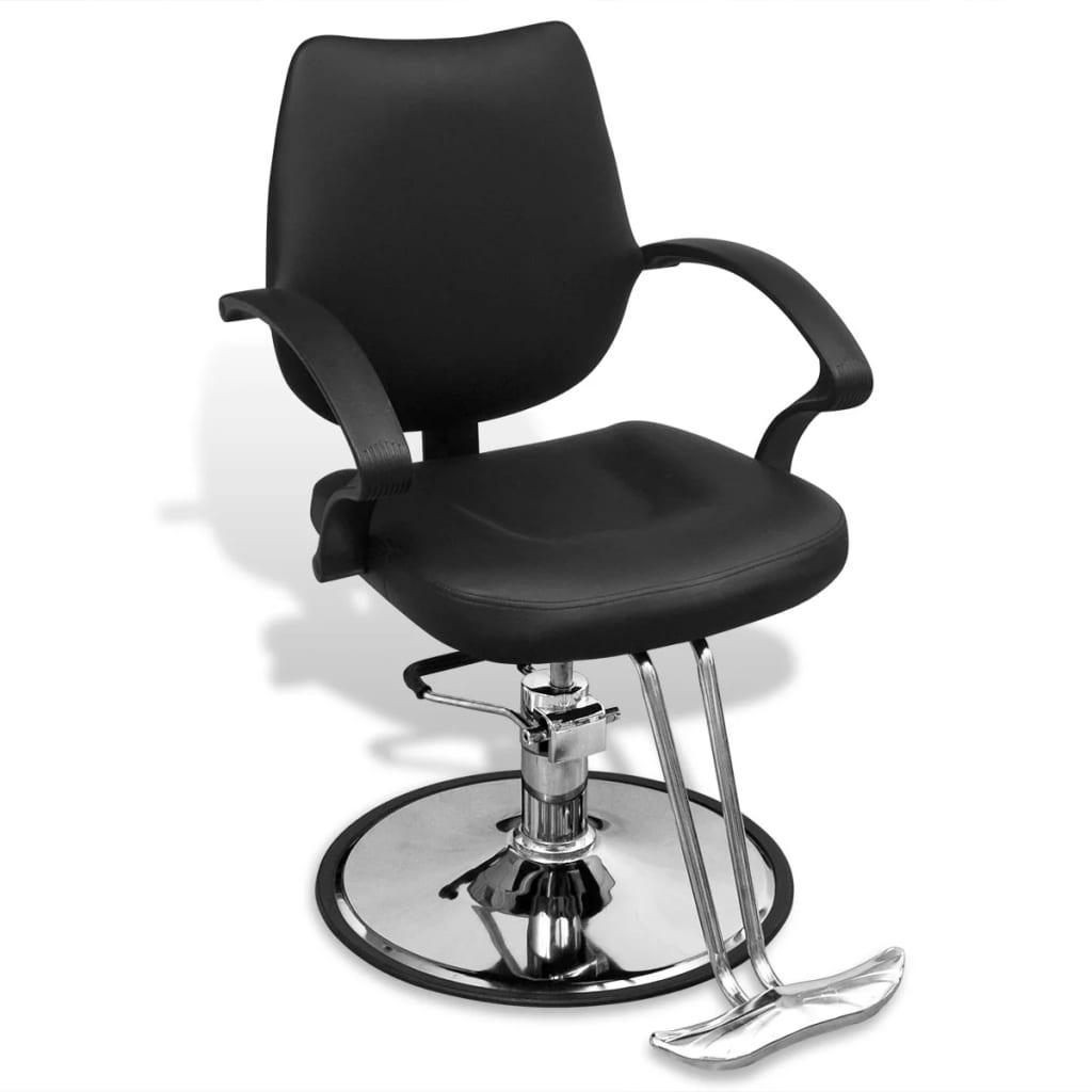 la boutique en ligne fauteuil de coiffure professionnel en cuir artificiel noir. Black Bedroom Furniture Sets. Home Design Ideas