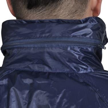 Blaue Regenbekleidung für Männer 2-teilig mit Kapuze Größe M[3/6]