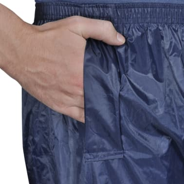 Blaue Regenbekleidung für Männer 2-teilig mit Kapuze Größe M[4/6]