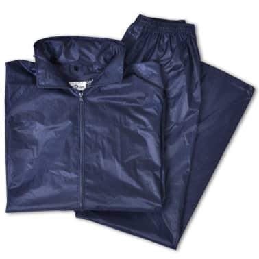 Blaue Regenbekleidung für Männer 2-teilig mit Kapuze Größe M[5/6]