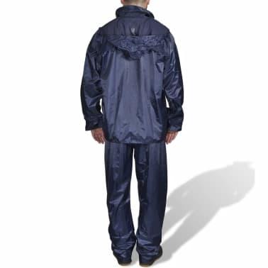 Blaue Regenbekleidung für Männer 2-teilig mit Kapuze Größe L[2/6]