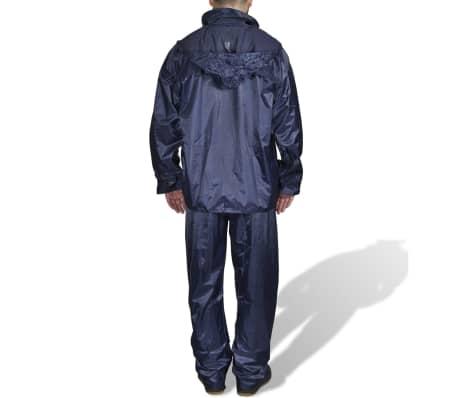 Blaue Regenbekleidung für Männer 2-teilig mit Kapuze Größe XXL[2/6]