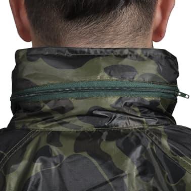 Tarnfarben Regenbekleidung für Männer 2-teilig mit Kapuze Größe M[3/6]