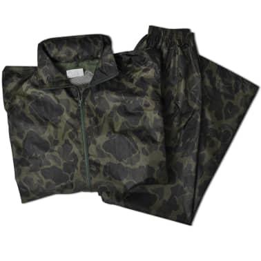 Tarnfarben Regenbekleidung für Männer 2-teilig mit Kapuze Größe L[5/6]
