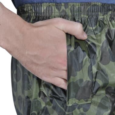 Tarnfarben Regenbekleidung für Männer 2-teilig mit Kapuze Größe XL[4/6]