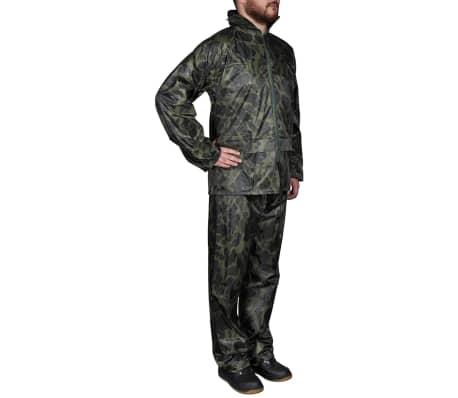 Tarnfarben Regenbekleidung für Männer 2-teilig mit Kapuze Größe XXL