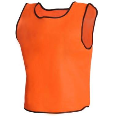 Orange Sportsshirts Sportweste für Kinder 10 Stück[3/4]