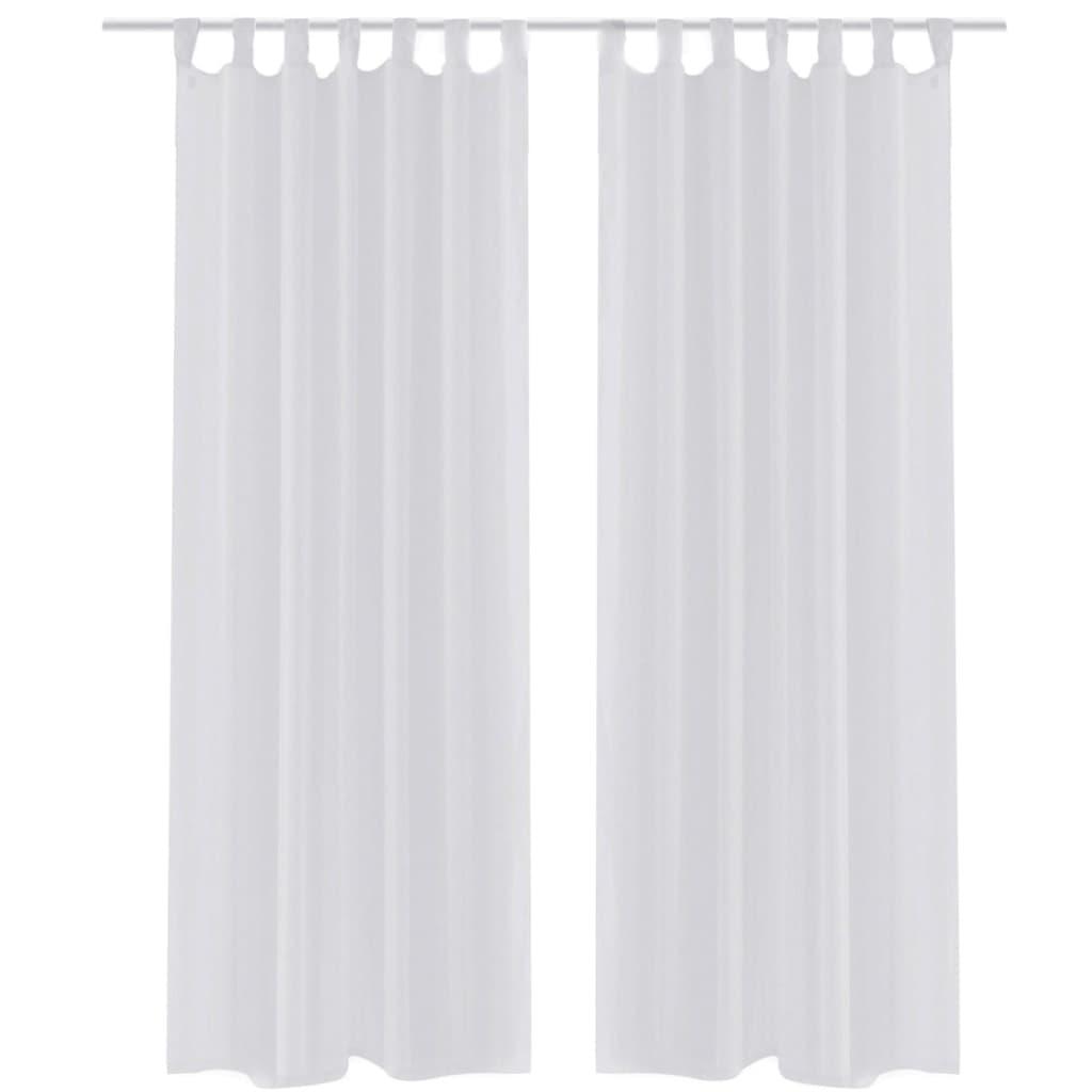2 cortinas transparentes ventana decoraci n visillo blanco for Cortinas transparentes