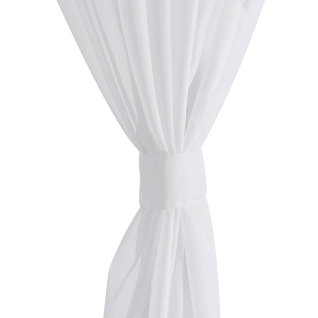 der 2 x transparente gardine fertiggardine 140 x 225 wei online shop. Black Bedroom Furniture Sets. Home Design Ideas
