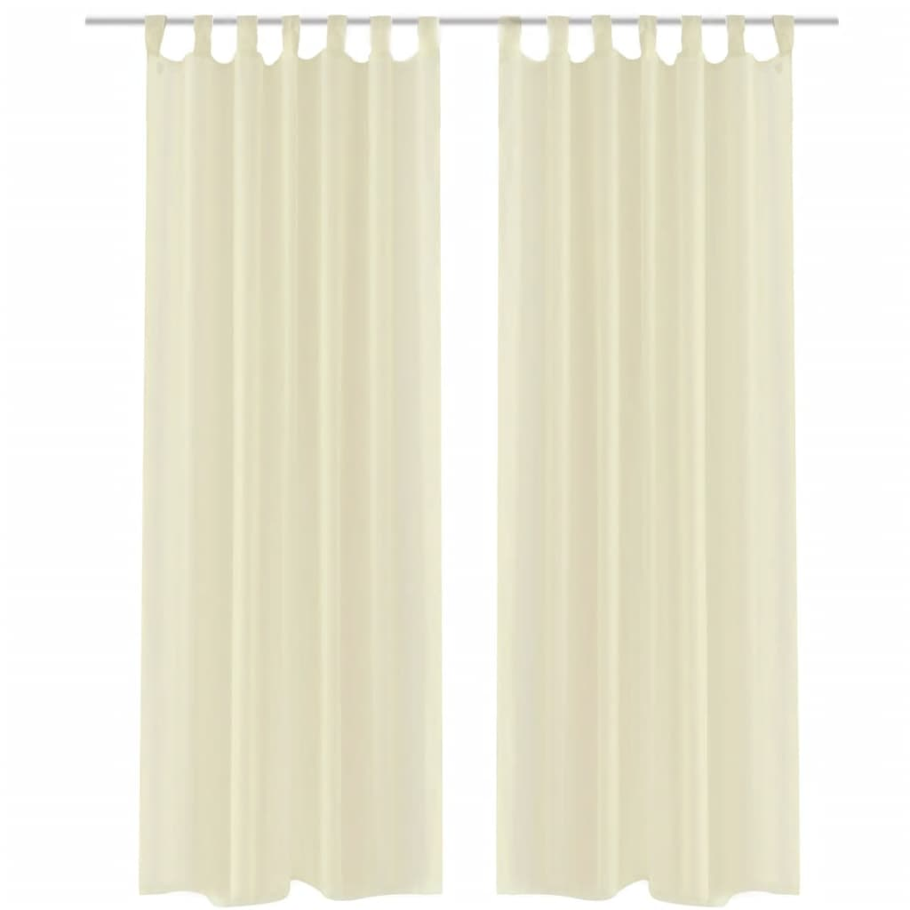 Cream sheer curtain 140 x 175 cm 2 pcs - Pictures of curtains ...