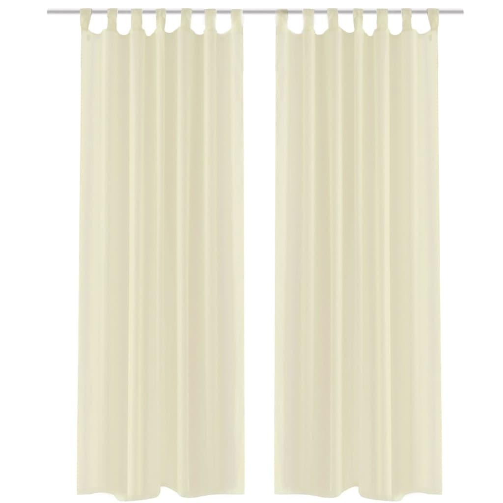 2 cortinas transparentes ventana decoraci n visillo blanco for Cortina visillo blanco